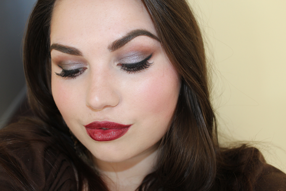 Makeup Look Dark Red Lips And Lots Of Lashes Beauty By